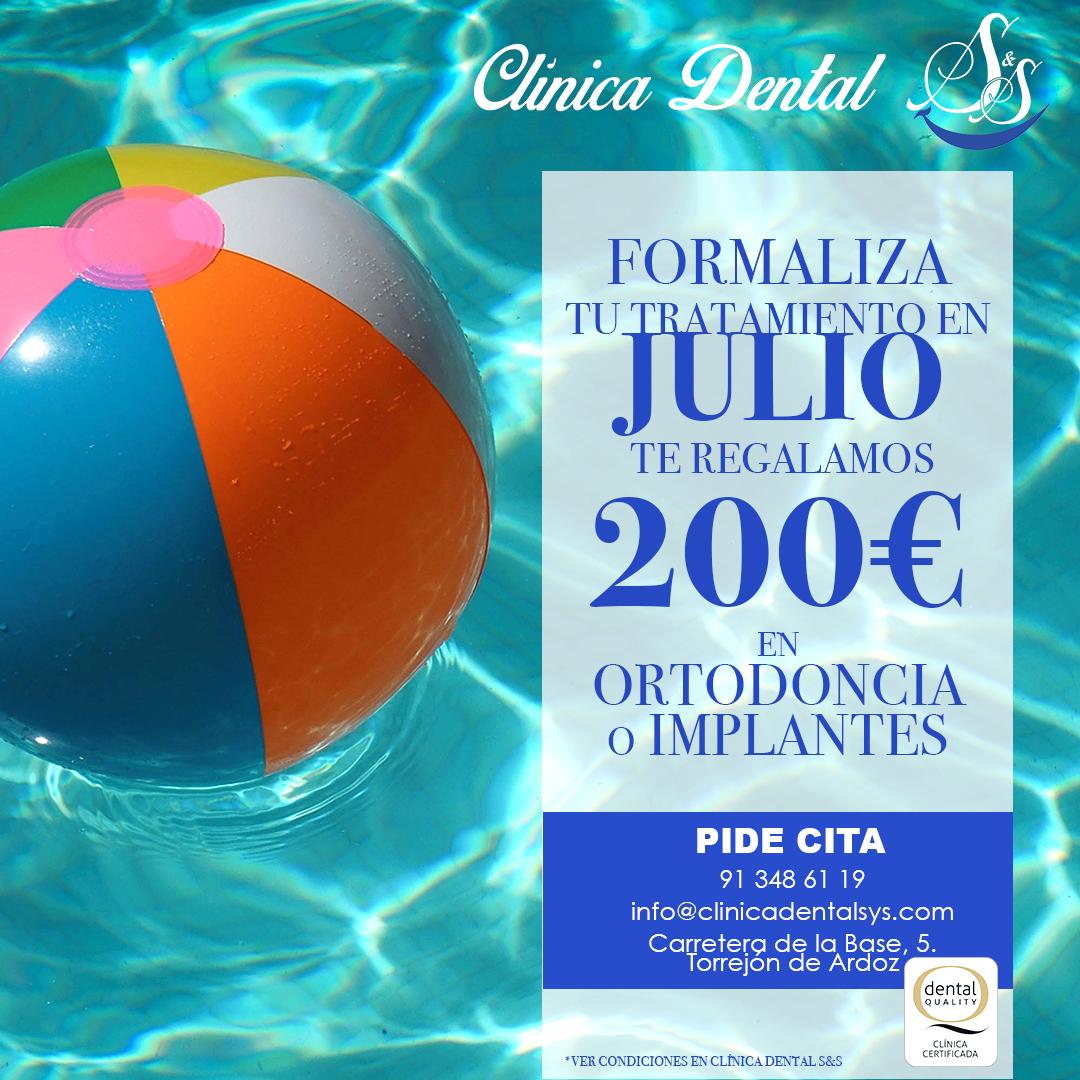 promocion de Julio en clinica dental